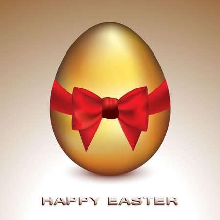Golden Easter Egg Vector