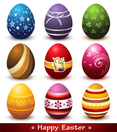 Collection of Easter Eggs Çizim