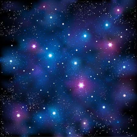 sterrenhemel: Sterrenhemel Stock Illustratie