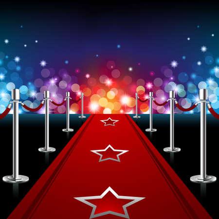 terciopelo azul: Lujo Red Carpet