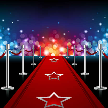 Luxury Red Carpet Illustration