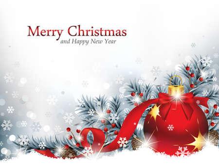 motivos navide�os: Ornamento de la Navidad en la nieve
