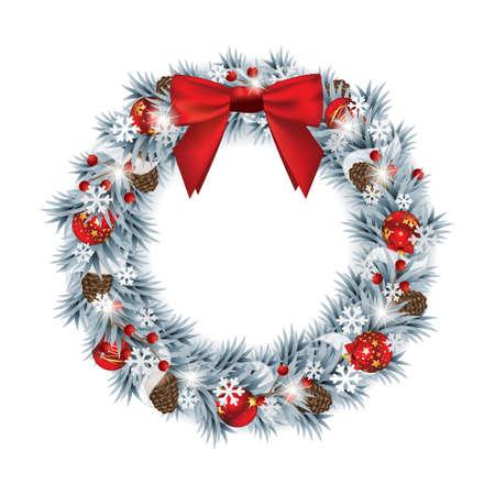 marcos redondos: Corona de Navidad