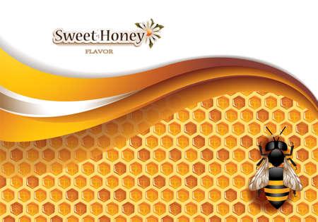 Honey Bee fond avec de travail Banque d'images - 36207454