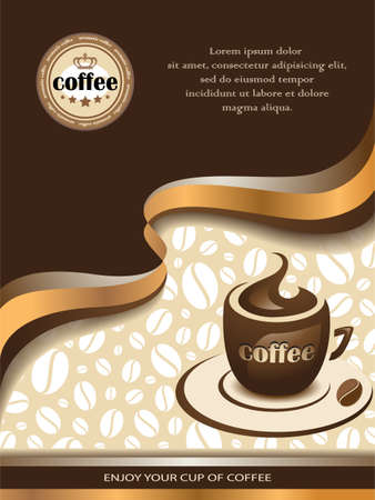 Coffee Background Çizim