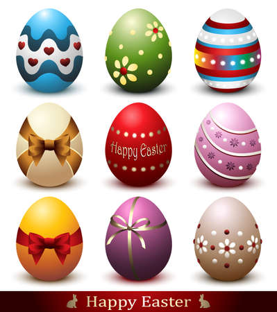 Eastar Eggs Collection Stock Illustratie