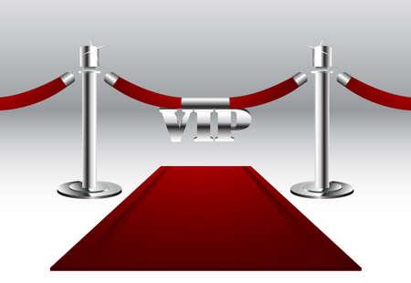 semaforo rojo: Alfombra roja con la Muestra del VIP