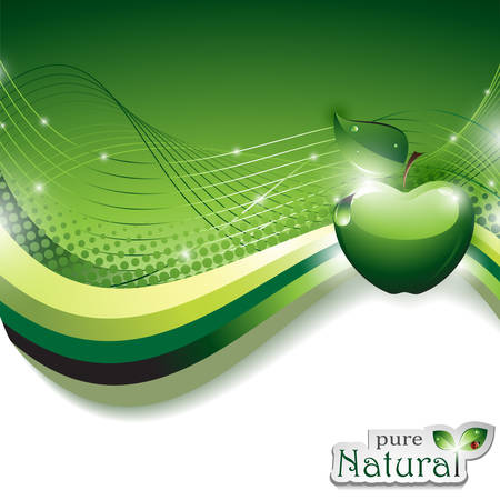 Natural Abstract Background with Shiny Apple Illustration