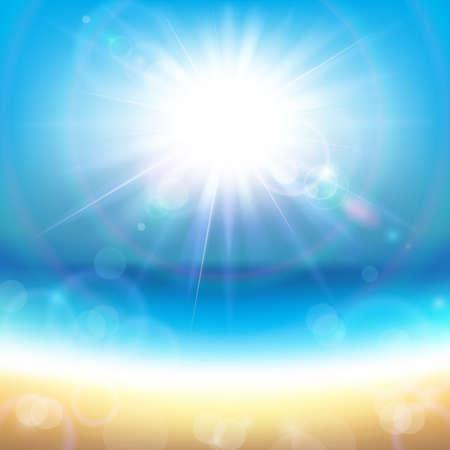 sol radiante: Sol sobre el mar