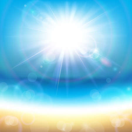abstract background vector: Sunshine Over the Sea