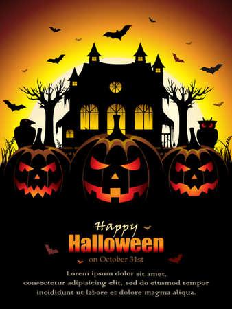 calabazas de halloween: Spooky Diseño de Halloween