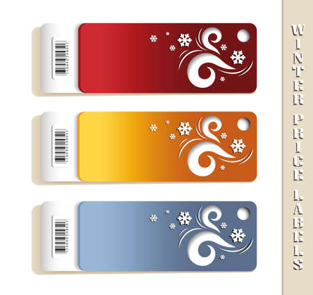 Price Labels with Winter Motives