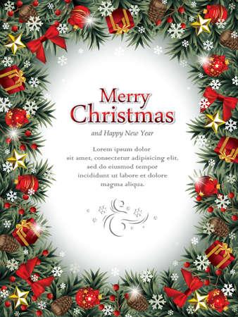 Decorative Christmas Frame