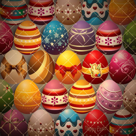 Background Composed of Easter Eggs Stok Fotoğraf - 54420712