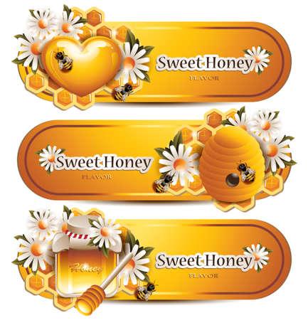 insecto: Banderas de moda de miel