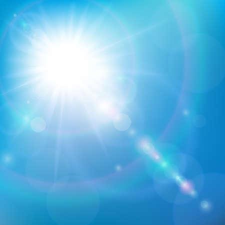 Sonnenschein im blauen Himmel