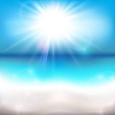 Sun Shining Over the Ocean