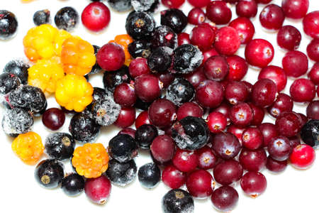 Freshly frozen berries for cooking. Morozhka, cranberries and blueberries - frozen and kept freshness and vitamins.