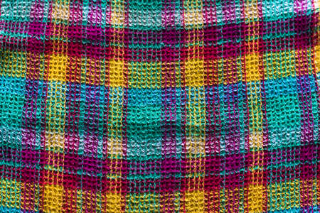 Beautiful and bright shades checkered fabric. Threads of all colors were used for the manufacture of this product.