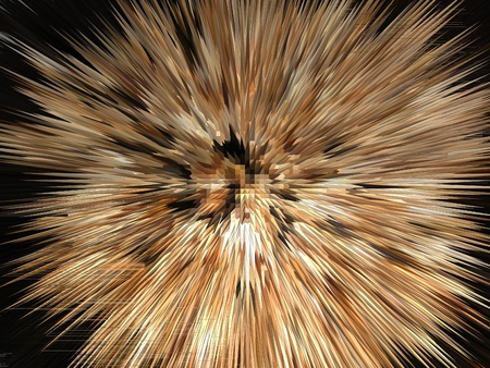 Unusual image of the brown explosion in the black space Stock Photo - 12854141