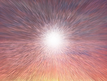 Explosion on the planet photo