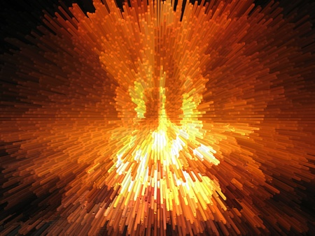 Bright and powerful fire explosion in the space Stock Photo - 13429022