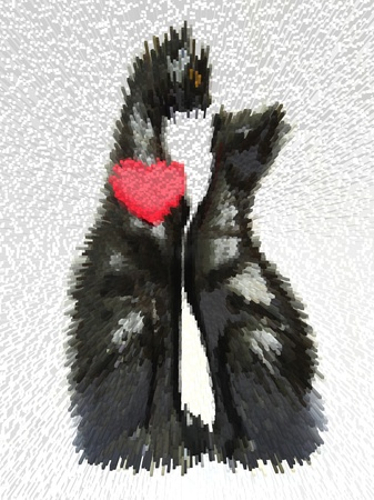 Two enamoured cats on an abstract white background Stock Photo - 13873203