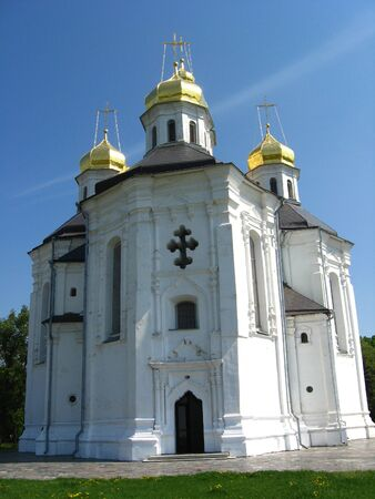 Beautiful church on a background of the blue sky Stock Photo - 13543171