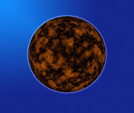 Unknown planet on a dark blue background photo