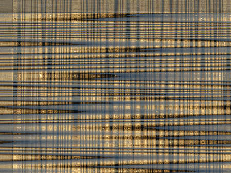Image with background of golden abstract strips photo