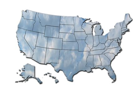 The image of map of states of USA photo