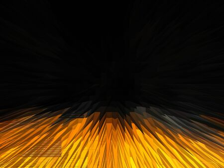 reflaction: Image of yellow abstract background with strips in darkness
