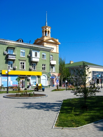 View on the street of resort city of Berdyansk Stock Photo - 15791458