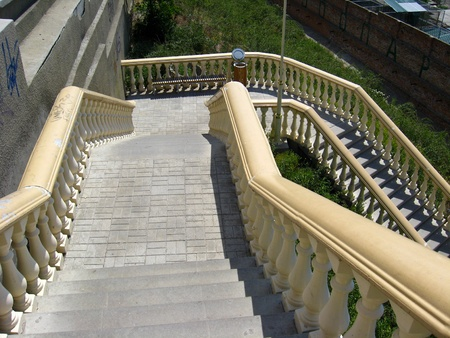 The image of beautiful stairs leading downwards photo
