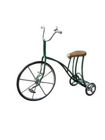 antique tricycle: The image of tricycle isolated on a white background