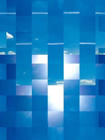 image of blue abstract background with transparent squares Stock Photo - 16005741