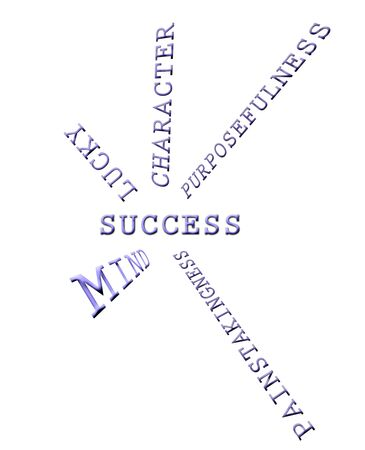 accomplishments: The image of the components of success Stock Photo