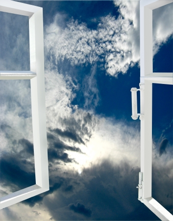 the image of opened window to the heaven photo