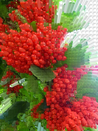 guelderrose: The image of abstract cluster of a red ripe guelder-rose Stock Photo