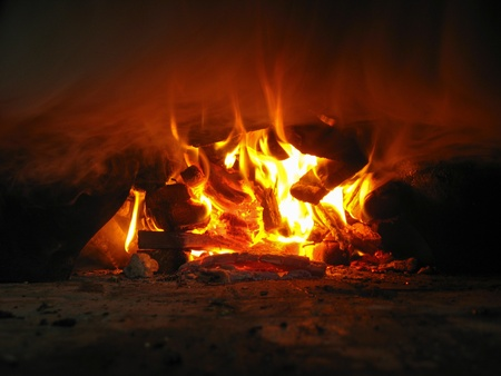 pig iron: Cooking on fire in the furnace