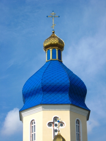 Beautiful church on a background of the blue sky Stock Photo - 17096686