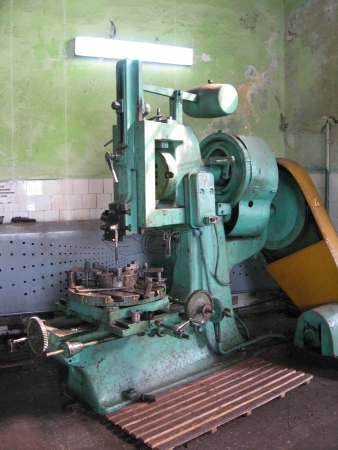 The old machine tool at a repair factory Stock Photo - 17221504