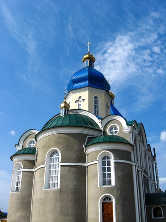 house of prayer: Beautiful church on a background of the blue sky