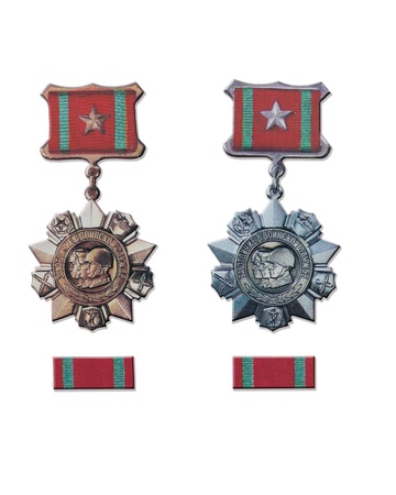 distinction: The Soviet medals for distinction in military service І and ІІ degrees Stock Photo