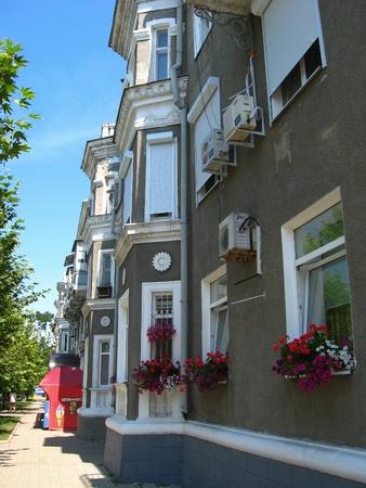 The multi-storey modern house on the blue sky background Stock Photo - 17360219