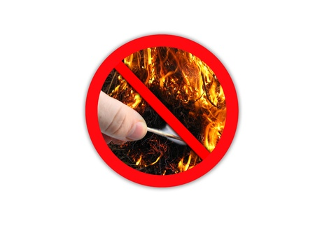 forbidding: the image of sign forbidding to make fire
