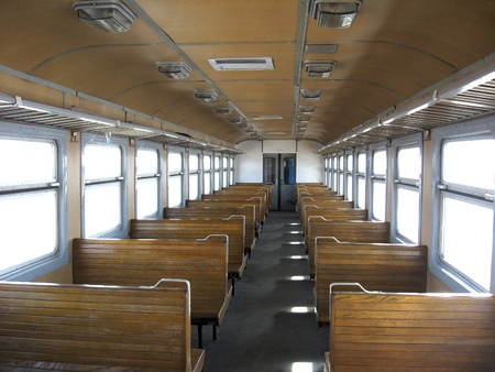 power within: image of inside of carriage of electric train