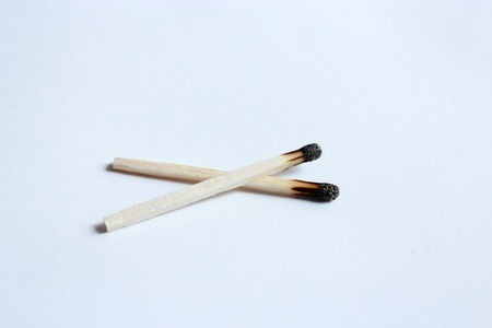 arson: the image of pair used wooden matches