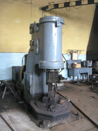 The old machine tool at a repair factory Stock Photo - 19698625