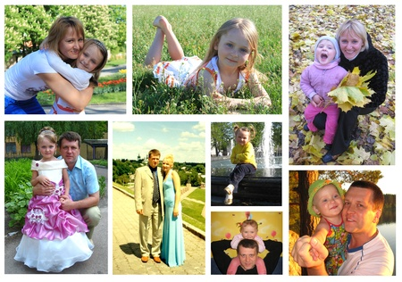 some different images from life of family photo